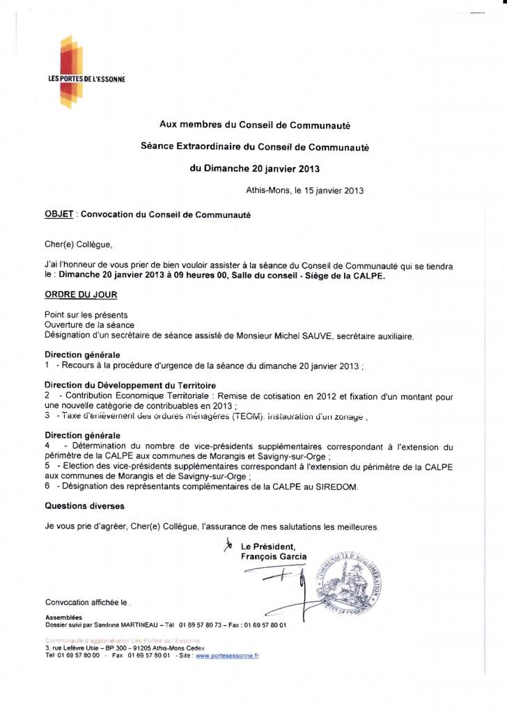 Les portes de l essonne ordre du jour du conseil de - Communaute d agglomeration les portes de l essonne ...