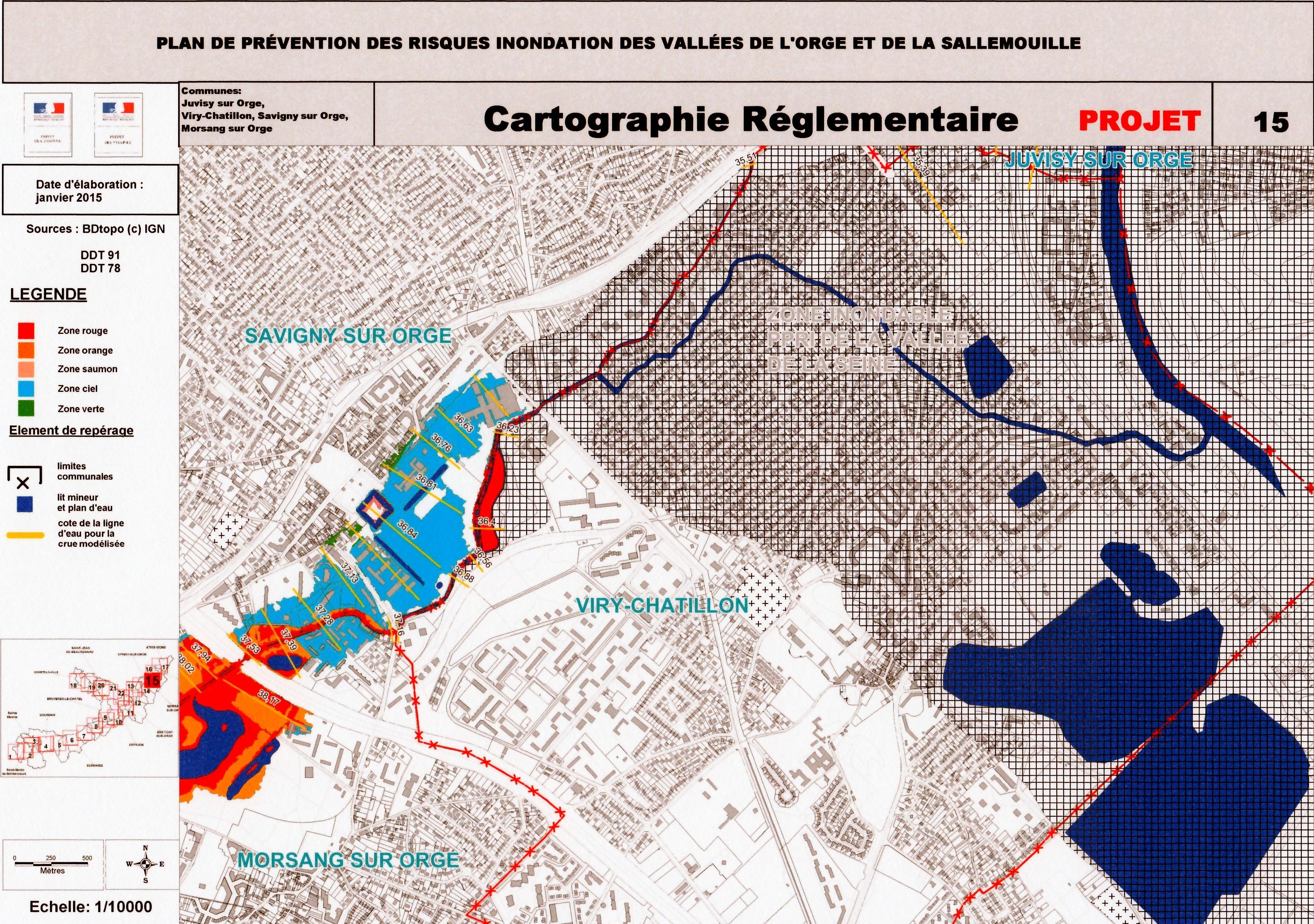Vall e de l orge savigny sur orge 1 les inondations de for Plan de prevention des risques entreprises exterieures
